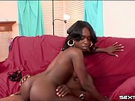 Tempting beauty in high heels and with yummy butt can't stop serving great black dick 11