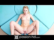 Golden-haired honey with deepthroat was engaged in passionate sex under the canopy 10
