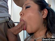 Stacked Asian with deep throat gave unforgettable blowjob, had vaginal sex and tasted sperm afterward 4