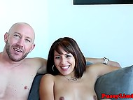 After sunbathing, pretty colleen was in need of rigid sex with bald dude to feel satisfied 11