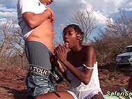Rough group sex with black teens at safari brought white dude a lot of wild pleasure 3
