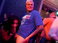 Mischievous girls came to the club not only to dance but also to give a head and fuck 4