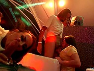 Mischievous girls came to the club not only to dance but also to give a head and fuck 5