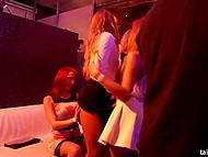 Mischievous girls came to the club not only to dance but also to give a head and fuck 7