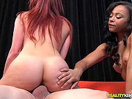 Black babe watched how red-haired girlfriend earns money with the help of seductive body 9