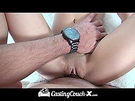 Agent touched applicant Sally Squirt's pussy in the car and nailed it in his office 11
