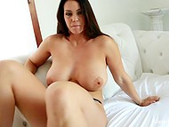 Vibrator and tender fingers help big-boobied Alison Tyler to work out pussy and reach ecstasy 7