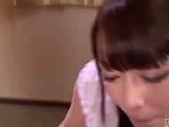 Улыбчивая японочка натаскана в области гоккуна и шесть членов для неё точно не проблема 7