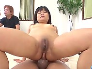 Teenage slut is ready to handle several peckers and it's a pleasure for her to try double penetration 9