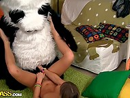 Panda was feeling bad that's why cute blonde with tattooed pussy took advantage of sex therapy 7