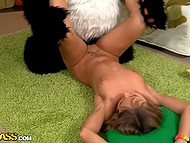 Panda was feeling bad that's why cute blonde with tattooed pussy took advantage of sex therapy 9