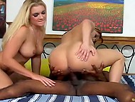 Man's massive black penis easily satisfied beautiful twats of mischievous girlfriends 3