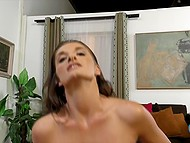 Hottie wore no lingerie under the dress and her skilled hands made operator ejaculate 6