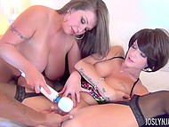 Stacked Sheridan Love did her best and forced luxurious lesbian girlfriend to squirt 11
