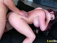 Irresistible MILF Sophie Dee flashed big bangers before putting groomed ginch on muscled partner's cock 10