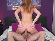 Thanks to deep throat and tight pussy of red-haired babe, man was fully satisfied 9