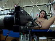 Brunette Vicki Chase modded equipment into fucking machines and received unforgettable pleasure 7