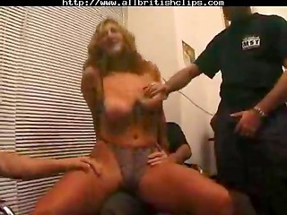 Dirty MILF gets used by four men