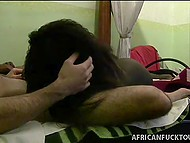 African girl gave a head to white tourist and her partner spread legs in front of him 4