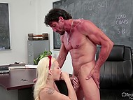 Doll Elsa Jean is not versed in politics but teacher has found out how good she is at fucking 9