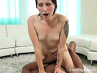 Tattooed applicant lets black agent fuck her in doggystyle and cowgirl positions because she desires to star in music video 10