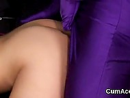 Croatian Tina Blade with makeup put condom on dick of guy in purple costume and let him enter her shaved pussy 3