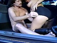 Desire to fuck overwhelmed dude, therefore he picked up whore and nailed her in the trunk 4