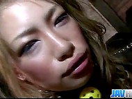 Japanese in leopard outfit was a good girl and master rewarded her with creampie 9
