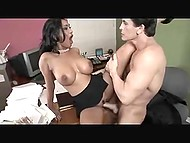 Employee was not going to help buxom colleague Priya Rai but hot fuck made him change his mind 5
