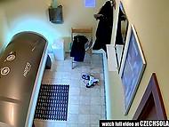 Молодые чешки ласкают себя в солярии и не подозревают, что их снимает скрытая камера 11