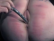 Man tied up light-haired bitch with tattoos and brought her thrills and nice sensations 5