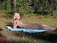 Sexy looker went out to the great outdoors to relax and masturbate a bit without everyone around 10