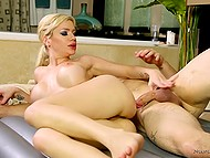 Busty masseuse Bibi Noel is a past master at delivering pleasure and treated guy skillfully 11
