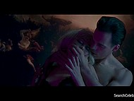 Erotic scene from full-length movie with beautiful French actress Emmanuelle Beart