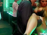 Girls hang out and don't deny themselves the pleasure to give a head or be fucked by strippers 9