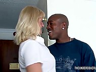 Black womanizer came to the hotel and made some noise with blonde-haired mature lover 7