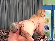Grey-haired lover of big size screwed not large cunt of classy BBW only but also butthole 4