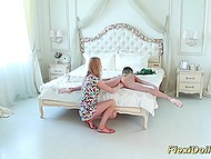 Dame checked teenage doll's flexibility as well as pussy tightness and remained satisfied 8