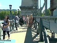 Shameless teens let people take joint photos while are walking naked around the city 4