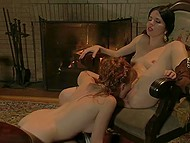 Lass seduced girlfriend and shower her all the beauties of lesbian love in practice