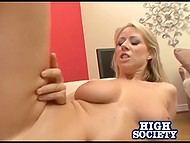 Blonde owes buddy but she has no money and that's why she pais with her hot body 5