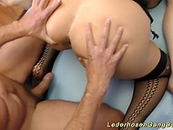 Hungry sluts participate in this gangbang with old men that give them a right amount of sperm 6
