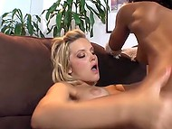 Blonde wants to taste Ebony girl's peach so she fingers and licks it like crazy 9