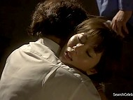 Scenes with Yuma Asami show how she was fucked in front of husband and then man shagged maid 10