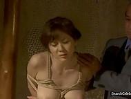 Сцены из фильма с Yuma Asami о том, как её ебут при муже, а потом муж при ней ебёт служанку 8
