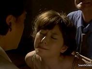 Сцены из фильма с Yuma Asami о том, как её ебут при муже, а потом муж при ней ебёт служанку 9
