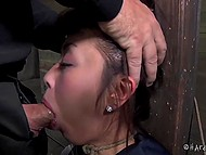 Maniac brought Japanese to attic and shut her mouth with cock torturing cunt with vibrator 9