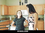 Bored lassie together with Latina stepsister found the way to have a whale of a time 9