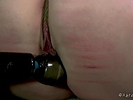 Man is getting twisted with tied up girlie making her cum with the help of ruthless vibrator 7