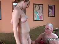 Young blowjob master couldn't come off man's dick till she felt sperm in mouth 6
